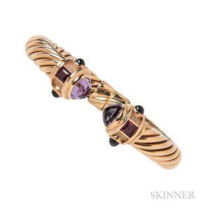 "14kt Gold and Amethyst ""Renaissance"" Bracelet, David Yurman"