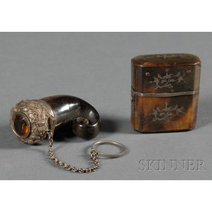 Two Small Silver-mounted Vessels