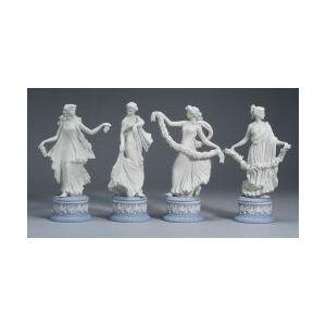 Four Modern Wedgwood Jasper Dancing Hours Figures