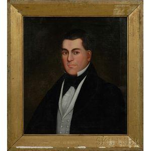 Zedekiah Belknap (American, 1781-1858)      Portrait of a Gentleman with Brown Eyes.