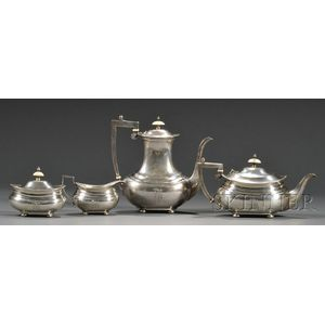Four-piece Gorham Sterling Tea and Coffee Service