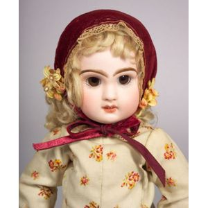 Small Tete Jumeau Bisque Head Bebe with Sleeping Eyes