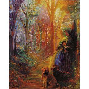 Paul Williams (American, b. 1934)      Forest Walk