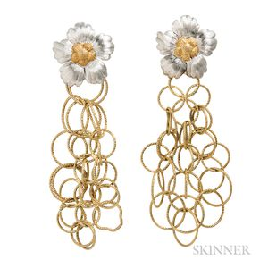 """18kt Gold """"Olympia"""" Earclips, Buccellati"""