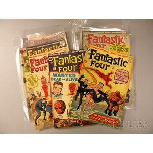 Twelve Silver Age Fantastic Four