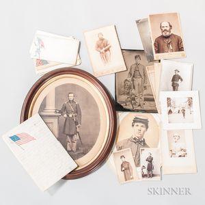 Group of Civil War-era Images, Letters, and Patriotic Envelopes
