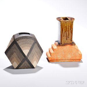 Two Ken Mihara (b. 1958) Izumo Ware Ceramics