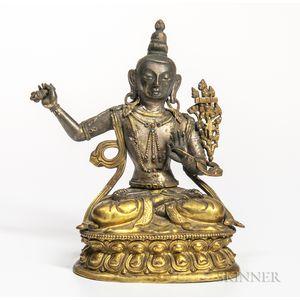 Bronze Figure of Manjusri Bodhisattva