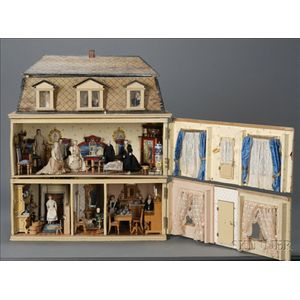 Christian Hacker Doll House with Contents