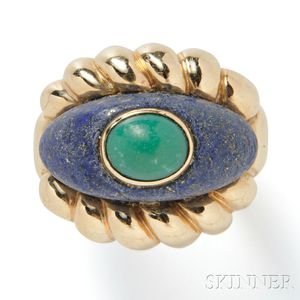 14kt Gold and Hardstone Ring, Tambetti