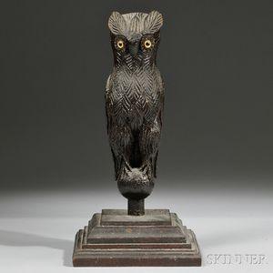 Carved Owl Figure