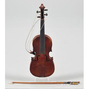 Miniature Violin, Mittenwald, c. 1890, Salesman