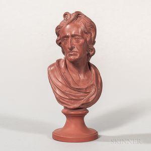 Wedgwood Rosso Antico Bust of Locke