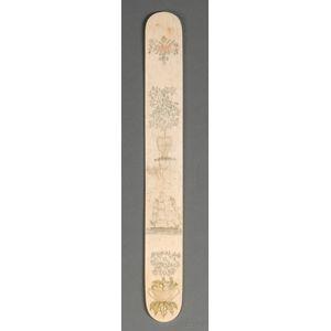Engraved Whalebone Busk