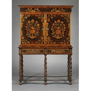 Dutch Marquetry Cabinet on Stand