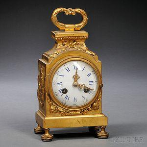 Gilt-bronze LXV-style Timepiece