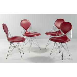 Four Eames-style Bikini Chairs
