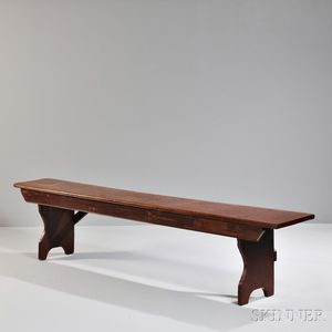 Red-painted Bench