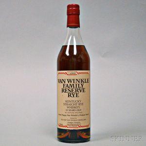 Van Winkle Family Reserve Rye 13 Years Old, 1 750ml bottle