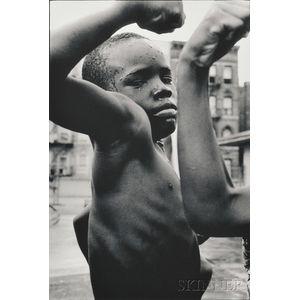 Leonard Freed (American, 1929-2006)      Muscle Boy, Harlem