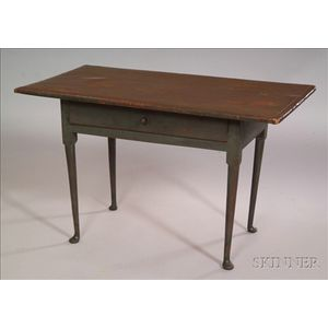 Queen Anne Green-painted Tavern Table