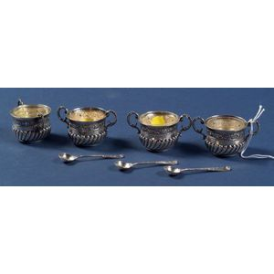 Set of Four Victorian Silver Open Salts