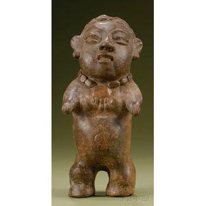 Pre-Columbian Pottery Female Figure
