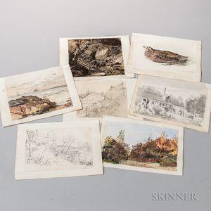 Rood, Ogden Nicholas (1831-1902) Original Sketchbook, 1860s.