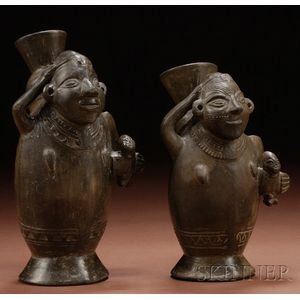 Pair of Pre-Columbian Pottery Vessels