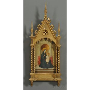 Grand Tour-style Gilded Madonna and Child Painting