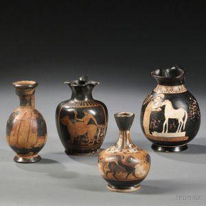 Four Grand Tour Ceramic Vessels