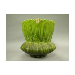 Large Bretby Majolica Sunflower-form Ceramic Jardiniere.