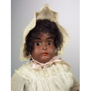 Kestner Black Bisque Socket Head Girl Doll