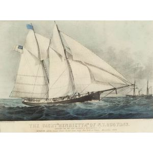 Currier & Ives, publishers (American 1857-1907)      The Yacht