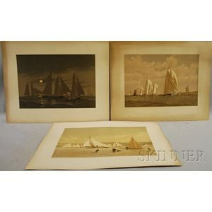 Frederic Schiller Cozzens (American, 1846-1928)      Lot of Six Unframed Chromolithographs from American Yachts
