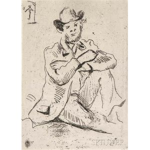 Paul Cezanne (French, 1893-1906)      Portrait du Peintre A. Guillaumin au Pendu