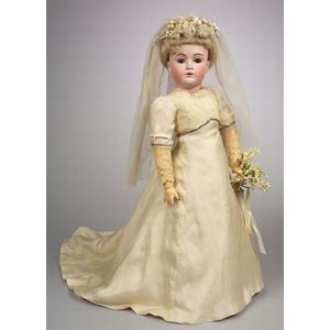 Large Kestner 162 Bisque Head Doll with Composition Lady Body