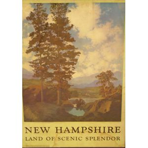 Framed Poster After Maxfield Parrish (American 1870-1966) New   Hampshire Land of Scenic Splendor