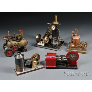 Four Bench-made Steam Engines and a Stationary Hot-air Engine
