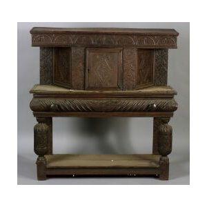 Elizabethan-style Oak Side Cupboard