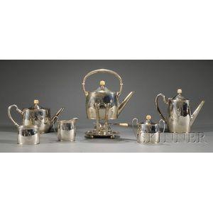 Six Piece Arthur Stone Associates Sterling Tea and Coffee Service