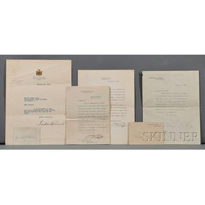 Presidential Autographs, Four Signed Letters, Two Signature Cards: