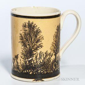 Mocha-decorated Half-pint Mug