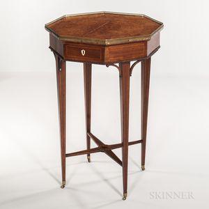 Georgian Mahogany- and Burlwood-veneered Octagonal Table