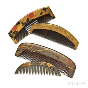 Four Wood Kushi   Combs