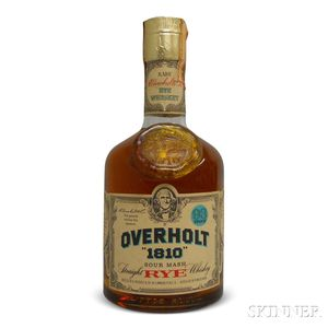Overholt 1810 Sour Mash Rye, 1 4/5 quart bottle