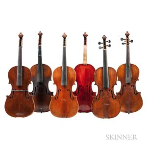 Six Violins.     Estimate $200-300