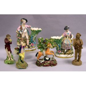 Six Assorted English and Continental Pottery and Porcelain Figures