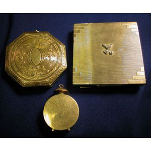 Edwardian 14kt Gold Compact, Tiffany & Co.