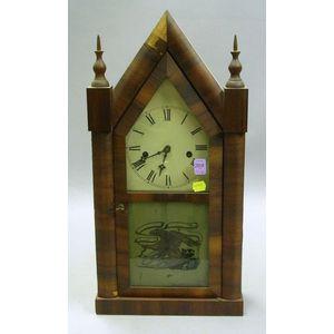Waterbury Clock Co. Mahogany Veneered Steeple Clock